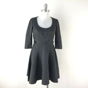 Ann Taylor Charcoal Gray Knit Dress (Fit & Flare)